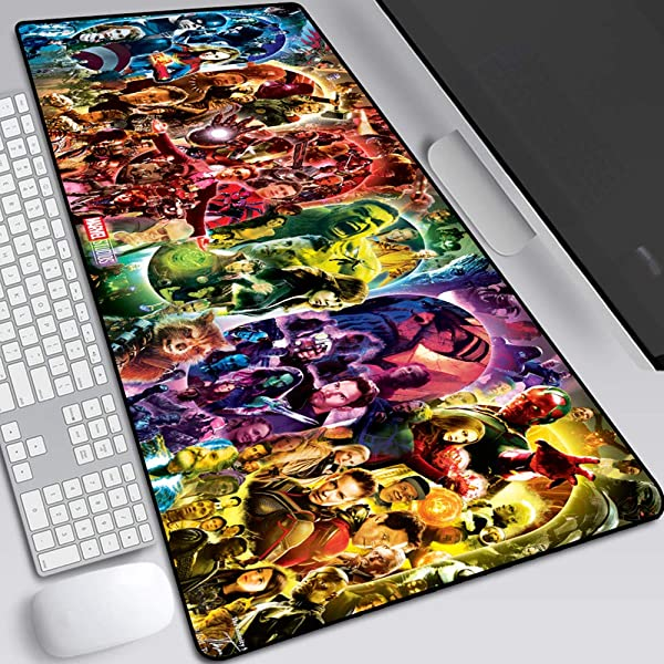 The Avengers Mouse Pad Professional Large Gaming Mouse Pad Classic Pattern Mouse Mat Extended Size Desk Mat Non Slip Rubber Mouse Mat Marvel 12 800 300 2 Mm 31 5 11 8 0 1 Inch