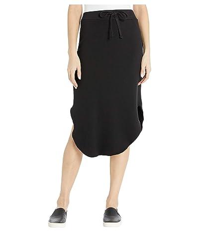 LAmade Brenna Modal/Cotton Fleece Skirt (Black) Women
