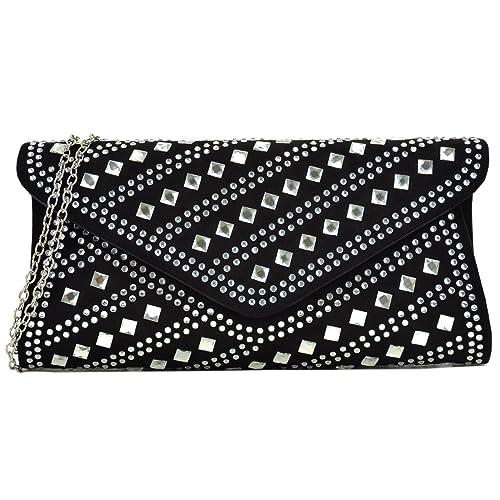 955eccb581d0 Dasein Rhinestone Evening Bag Glitter Clutch Purses Studded Envelope  Shoulder Handbag Prom Party Bag