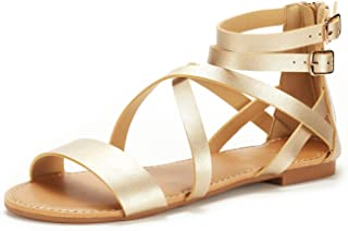 f9a7909ac5000 DREAM PAIRS Women s Safari Fashion Ankle Strap Flat Sandals
