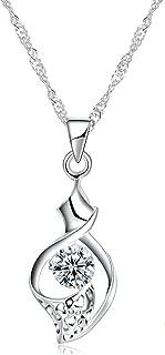 Gnzoe Jewelry 925 Sterling Silver Women Necklace Irregular Prismatic White Friendship Chain 40+5CM