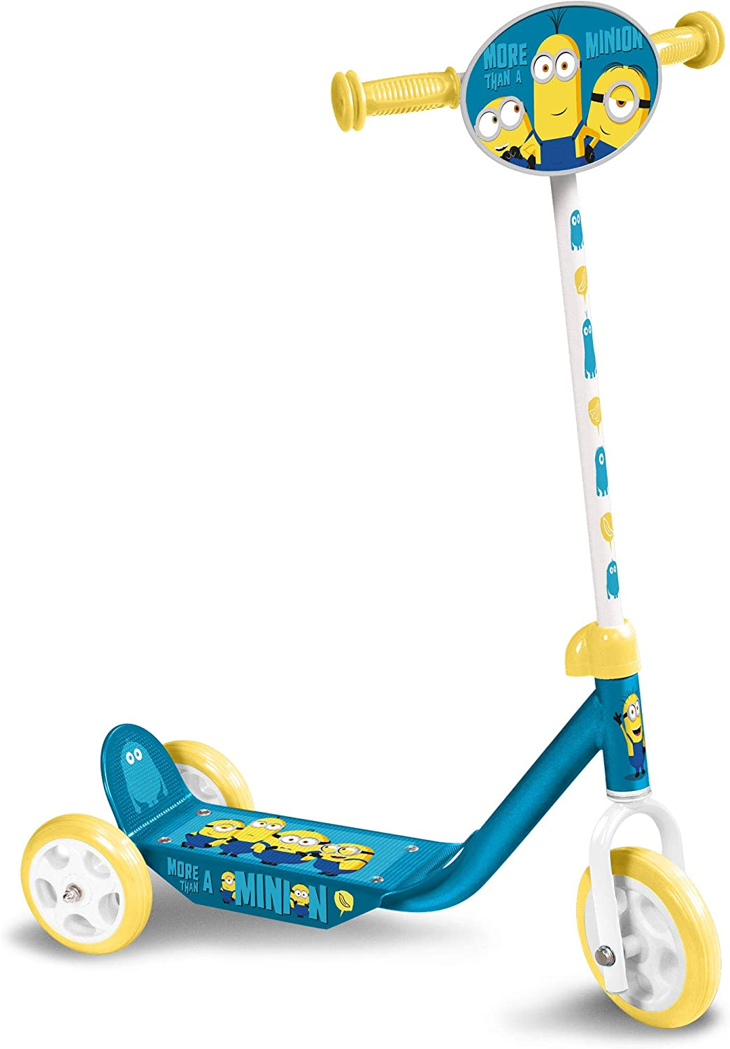 Stamp- Scooter 3 Wheels Minions 2, Color Azul, (MI290050)
