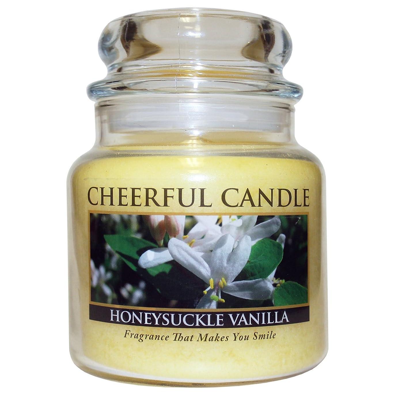 人道的おびえた妥協A Cheerful GiverスイカズラバニラJar Candle、473ml