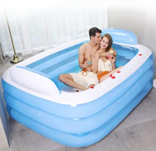 Inflatable Swimming Pools, 59-62in Inflatable Kiddie Pools, Family Lounge Pools, Family Inflatable Swimming Pool, for Kid...