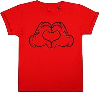 Disney Mickey Mouse Love Hands Camiseta para Niñas