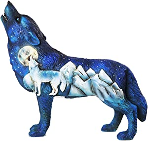 Pacific Giftware The Wolf Spirit Collection Frost Mountain Wolf Spirit Collectible Figurine