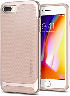 Spigen Neo Hybrid Designed for Apple iPhone 8 Plus Case (2017) / Designed for iPhone 7 Plus Case (2016) - Platinum Gold & Pale Dogwood