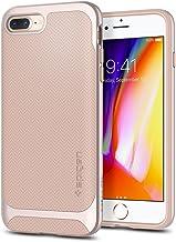 Spigen Neo Hybrid Designed for Apple iPhone 8 Plus Case (2017) / Designed for iPhone 7 Plus Case (2016) - Platinum Gold & Pale Dogwood