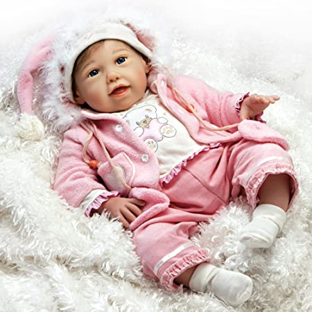 Paradise Galleries Cuddle Bear Bella Real Baby Doll. 21 inch Weighted Reborn Baby Doll with 5-Piece Baby Doll Clothes Set. Age 3+