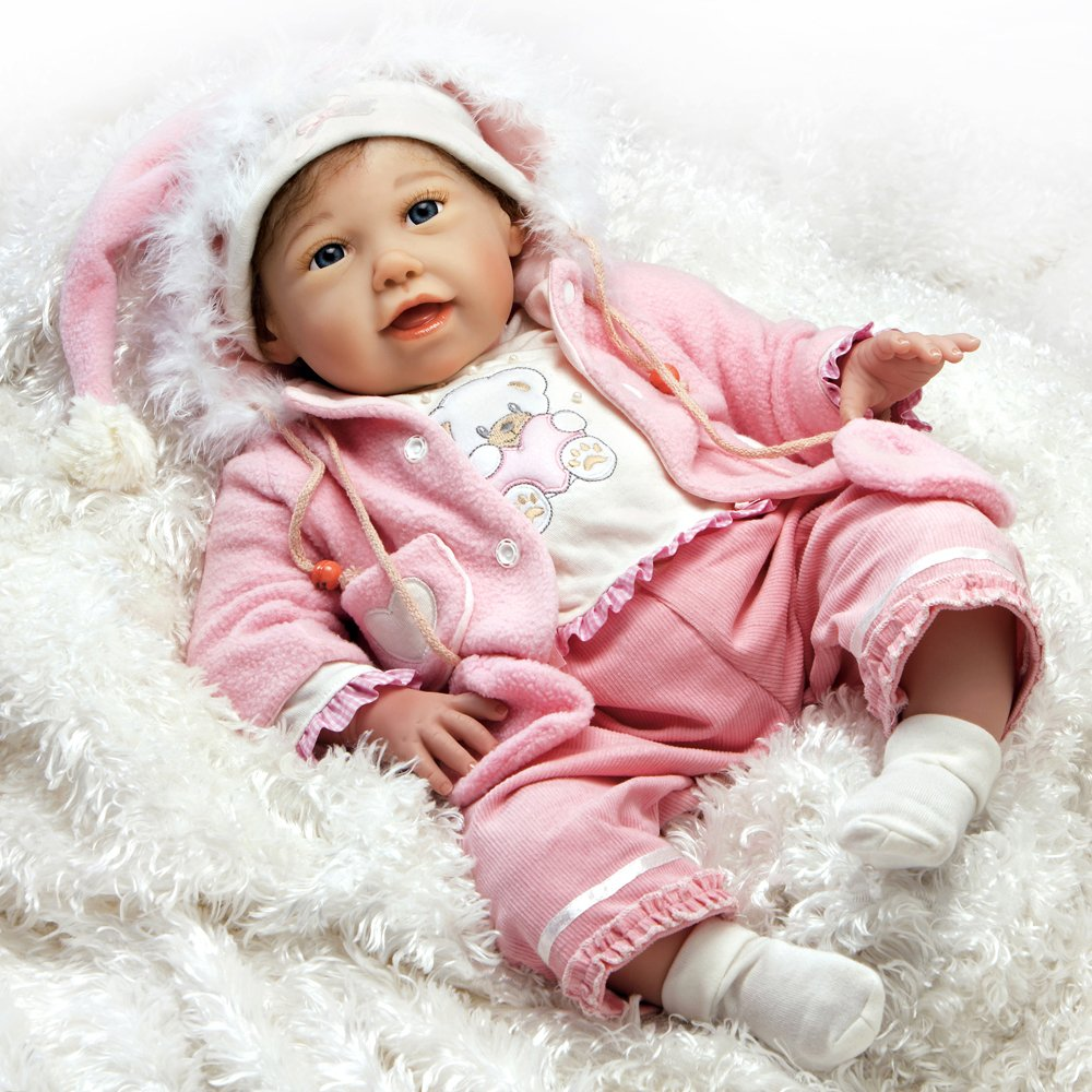 Paradise Galleries Reborn Baby Girl Doll Baby Layla in FlexTouch Silicone Vinyl