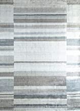 Jaipur Rugs Modern Ivory 8X11'6 Feet Wool and Viscose Checks Rug and Carpet