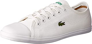 Lacoste Ziane Sneaker 318 2 Women's Fashion Shoes, WHT/WHT