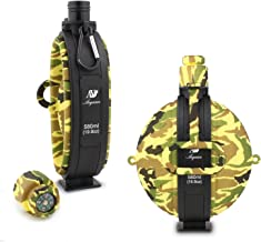 Anyasun Collapsible Military Canteen, 19.8oz Portable Silicone BPA Free Water Bottle for Outdoor Camping Travelling Hot & Cold Water Outdoor Indoor Sports Water Drinking