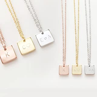 Initials Necklace Bridesmaid Gift Your Name Necklace - SN