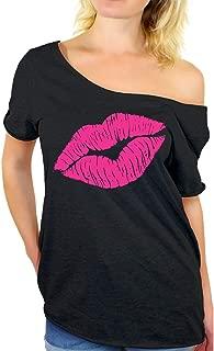 80s Shirt Oversized Sexy Neon Pink Lips Shirt 80s Accessories