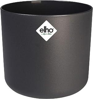 Elho B.for Soft Round, Maceta Redonda, Gris, Diámetro de 16 cm, Altura de 14.9 cm