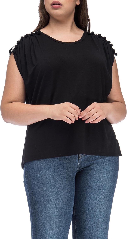 Bobeau Norah With Trim Detail Plus Size Top