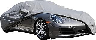 PROTEKZ Custom Car Cover for Porsche 996 S C4 C4S Turbo 1997 1998 1999 2000 2001 2002 2003 (Breathable Dust Series Gray)