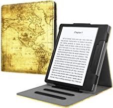 Fintie Flip Case for Kindle Oasis (Previous 9th Generation, 2017 Release) - Multi Angle Hands Free Viewing Stand Cover with Auto Sleep Wake (Not Fit All-new Kindle Oasis 10th Gen, 2019), Ancient Map