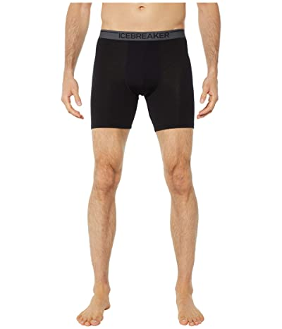 Icebreaker Anatomica Merino Zone Long Boxers (Black) Men