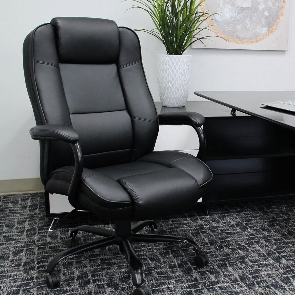 Partee Surprise price Executive Chair Frame Color: Black 23'''' W x Max 83% OFF 21. Seat: