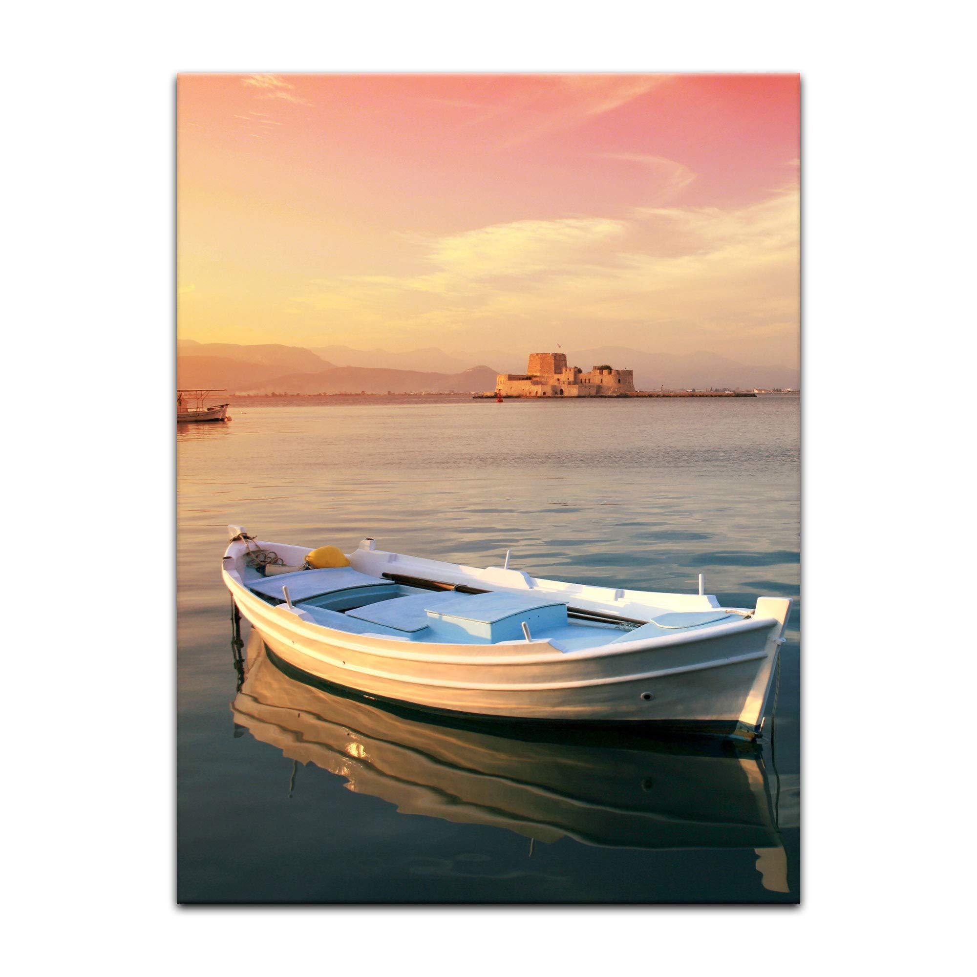 Bilderdepot24 Cuadros en Lienzo Barco de Pesca Tradicional Griego ...