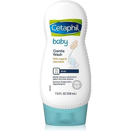 Cetaphil Baby Gentle Wash with Organic Calendula  Fresh Fragrance   Gentle and Safe   7.8 Oz