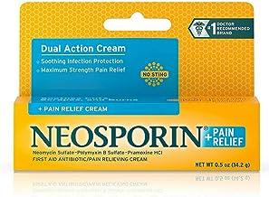 Neosporin Plus Pain Relief Cream, Maximum Strength, 0.5 oz (Pack of 5)