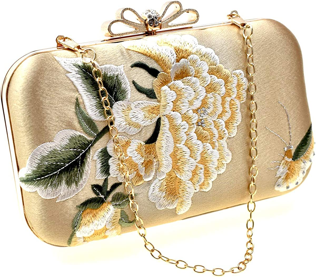 Flower Clutch Purse for Women, Embroidery Wedding Evening Bag Wedding Clutch Bridal Handbag