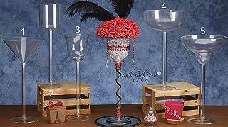 rackcrafts.com Jumbo XLarge Long Neck Plastic Toasting Cups Glasses Martini Wine Margarita Champagne Cylinder Flower Vase Center Piece Wedding Special Events (5)