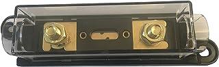 KOLACEN ANL guldpläterad säkring 250 Amp + ANL-säkringshållare svart 1-pack