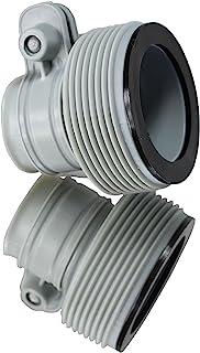 INTEX - Adaptador de manguera tipo B de 3,2 a 3,8 cm para bombas y sistema de agua salada, juego de 2