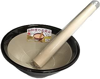 元重製陶所 石見焼 すり鉢 7号 (直径22cm・すりこぎ付) 織部