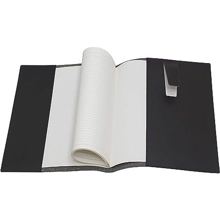 タキザワ 再生牛革A4ブック&ノートカバー 化粧箱入 A4サイズ対応のノートカバー(ブックカバー) リサイクルレザーで製造されたA4ノート対応のブックカバー 黒 LS-A4-014-1-B