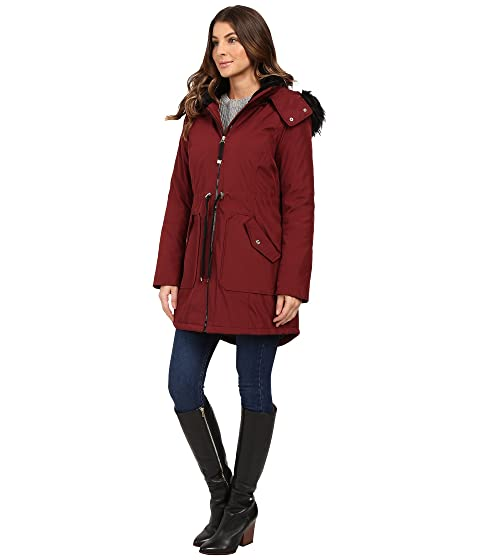 Jessica Simpson Quilted Fill Puffer W Drawstrings Hood