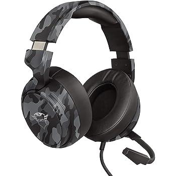 Trust Cuffie Gaming GXT 433K Pylo con Microfono a Scomparsa, Driver da 50 mm, 3.5 mm Jack, Filo, Over Ear, per PS4, PS5, Xbox Series X, PC, Xbox One, Switch, Nero Mimetico