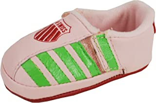 K-Swiss New Born/Crib Girls Shoes Ellzey Pink/Red Sneakers