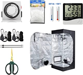 "cdmall Grow Tent Room Complete Kit 16""x16""x48"" Kit Hydroponic Growing System Indoor Plants Growing Dark Room Non Toxic Hut + Hydroponics Growing Setup Accessories (16""x16""x48"" Kit)"