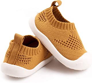 Baby First-Walking Shoes 1-4 Years Kid Shoes Trainers Toddler Infant Boys Girls Soft Sole Non Slip Cotton Canvas Mesh Brea...