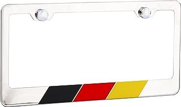 International Tie Germany, German Flag License Plate Frame, Chrome High Grade 304 Stainless Steel …