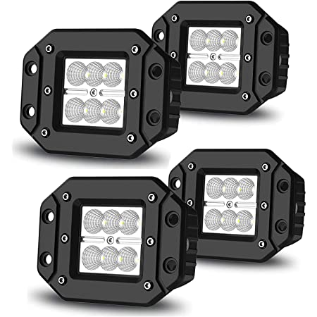 8X 24W Flush Mount Spot LED Pods 5inch LED Work Light Driving Offroad Truck 4WD