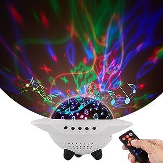 Yideng 3 in 1 Proyector de cielo estrellado,10 colores Lampara Proyector Estrellas con Control Remoto&Temporizador&Bluetooth,Luz Bebé Nocturna,Proyector LED Reproductor de Música