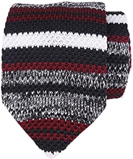 Men's Skinny Knit Tie Vintage Smart Casual Formal Necktie for Groom by Ctskyte