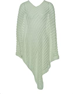 Collection 18 Women's Long Crochet Shawl Ivory One Size
