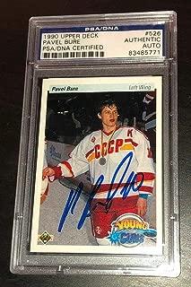 Pavel Bure Signed 1990 Upper Deck Young Guns Canucks Rookie Card - PSA/DNA Certified
