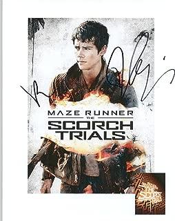 Dylan O'Brien & Kaya Scodelario Signed Autographed 'Maze Runner' Glossy 8x10 Photo - COA Matching Holograms