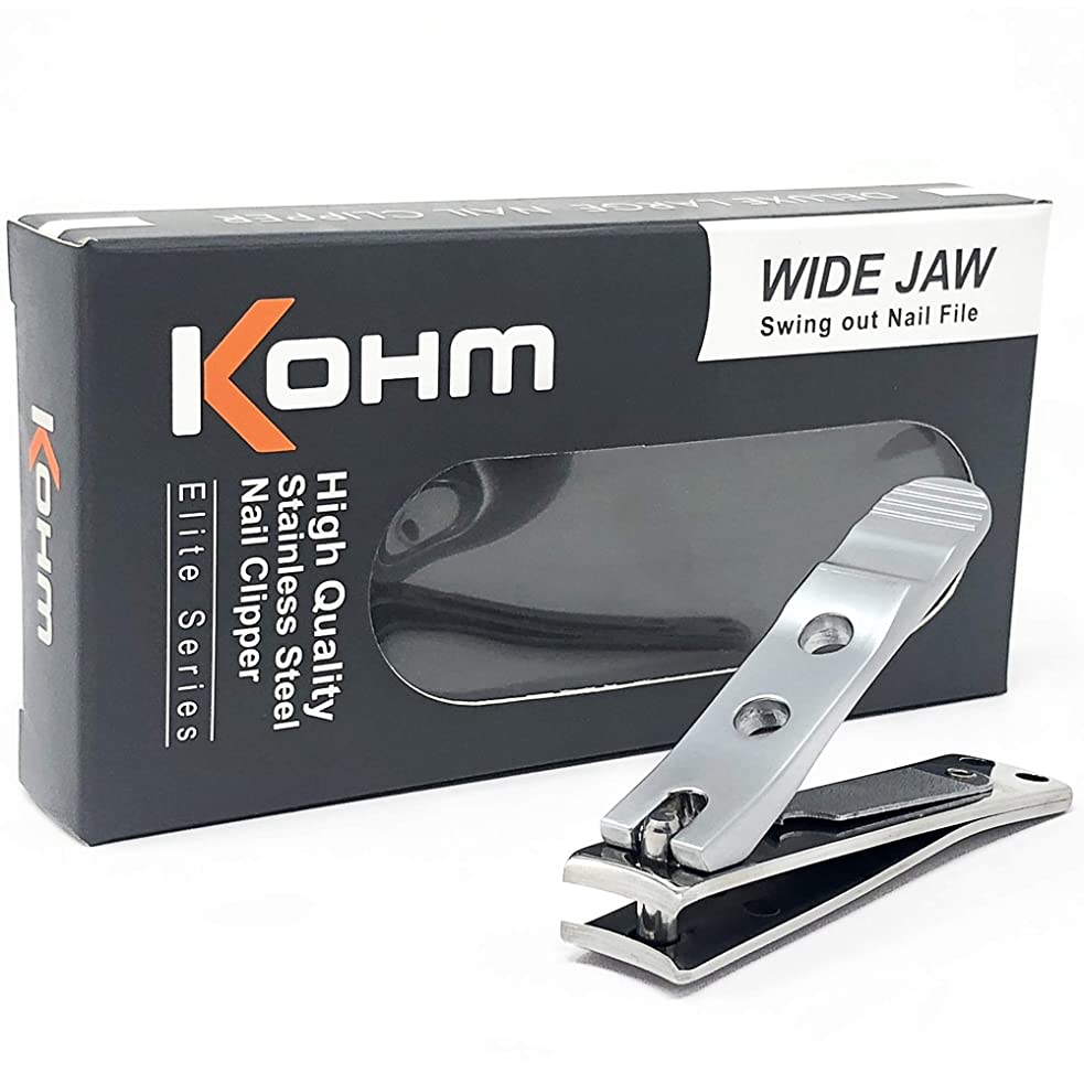 神経緊張推測Kohm WHS-440L厚手の爪のための足のつかみ4mmの広い顎、湾曲した刃、釘のファイル、ヘビーデューティ。