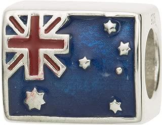 Dreambell 925 Sterling Silver Enamel Australia Flag European Bead For European Charm Bracelets