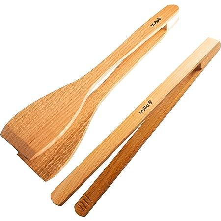 YARNOW 2 Piezas Pinzas para Pan de Madera Pinzas para Tostadora de Bamb/ú Pinza para Pan de Pastel Tipo Tijera Clip para Pastel Comida Jam/ón Filetes para Barbacoa Herramientas Agarre