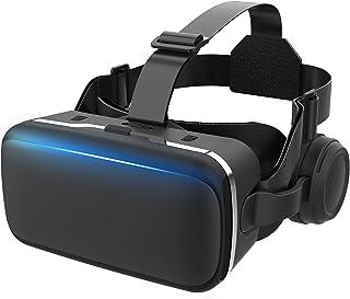 【令和2年VRゴーグル】 VRヘッドセット VRヘッドマウントディスプレイ 高音質ヘッドホン付き ピント調節可 4.7~6.5インチスマホ対応 非球面光学レンズ搭載 近視/遠視適用 120°視野角 放熱性よい 本体操作可 受話でき 眼鏡対応 着...